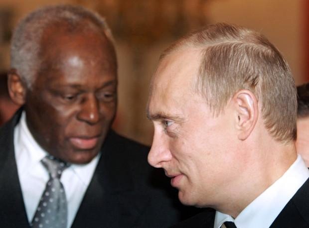 Russia's President Putin and Angola's President Jose Eduardo dos Santos meet for talks in Moscow